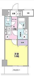 ディクオーレ仙川[3階]の間取り