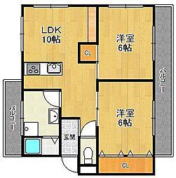 第三西宮マンション[3階]の間取り