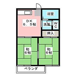 サングリア小笠 B[2階]の間取り