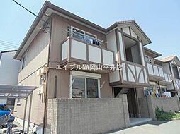 岡山県岡山市中区国富丁目なしの賃貸アパートの外観
