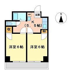 向陽ビル[7階]の間取り