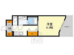 ファーストフィオーレ江坂グレイス 2階1Kの間取り