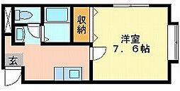 岡山県岡山市北区十日市中町の賃貸マンションの間取り
