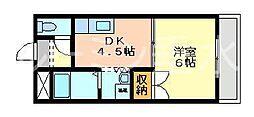 サンライフ松田[103号室]の間取り