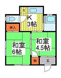 晴嵐荘[2階]の間取り