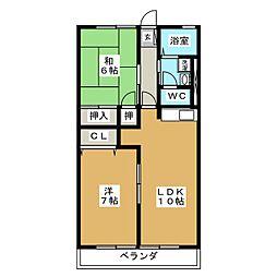 ルミコートT[2階]の間取り