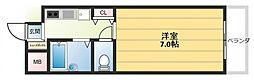 ノアーズアーク長田21[4階]の間取り