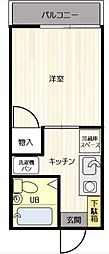神奈川県横浜市瀬谷区三ツ境の賃貸アパートの間取り