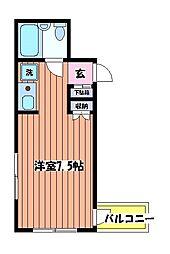 チクマビル[4階]の間取り