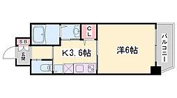 ワールドアイ神戸湊町 1階1DKの間取り