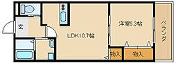 兵庫県姫路市玉手2丁目の賃貸アパートの間取り