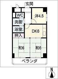 オーク斎藤[10階]の間取り