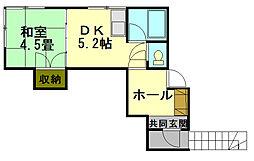 北海道小樽市入船4丁目の賃貸アパートの間取り