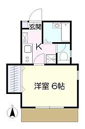ハウスブロッサム2[1階]の間取り