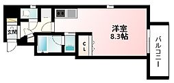 Osaka Metro御堂筋線 江坂駅 徒歩7分の賃貸マンション 9階ワンルームの間取り