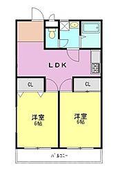 メゾン豊田[2階]の間取り