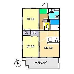 ナビオハイツ[3階]の間取り