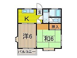 ナカノマンション[301号室]の間取り