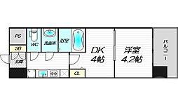 ビガーポリス346京橋2 6階1DKの間取り