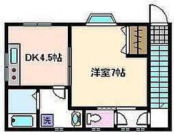 東京都足立区千住宮元町の賃貸アパートの間取り