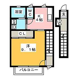テックハウジング11[2階]の間取り