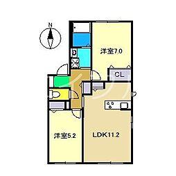 シャーメゾン・フレール C棟[1階]の間取り