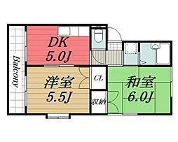 千葉県佐倉市西志津8丁目の賃貸マンションの間取り