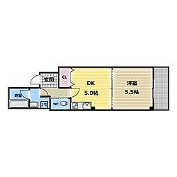 大阪府大阪市生野区小路1の賃貸マンションの間取り