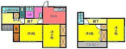 [一戸建] 宮崎県都城市年見町 の賃貸【/】の間取り