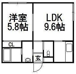 アベニュー4−5[1階]の間取り