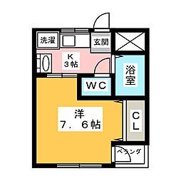 ラ・ヴィータ志賀本通[2階]の間取り