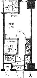 東京都千代田区岩本町3丁目の賃貸マンションの間取り