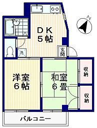 タウンコートカワマタ[5階]の間取り