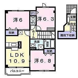 コスモス[2階]の間取り