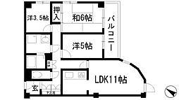 セントラルコート5[3階]の間取り
