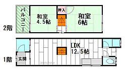 [一戸建] 大阪府豊中市桜の町2丁目 の賃貸【/】の間取り
