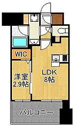 グランフォーレ小倉シティタワー 3階1LDKの間取り