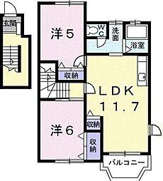 ロワジールII[2階]の間取り