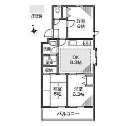 コンフォート三鷹台[2階]の間取り