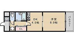 ルミエール昭和町[406号室]の間取り