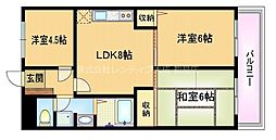 Osaka Metro谷町線 野江内代駅 徒歩3分の賃貸マンション 4階3LDKの間取り