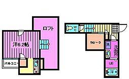 CB宮原ルアナ[2階]の間取り