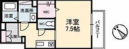広島高速交通アストラムライン 祇園新橋北駅 徒歩7分の賃貸アパート 2階1Kの間取り