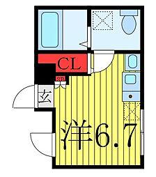 JR京浜東北・根岸線 王子駅 徒歩4分の賃貸マンション 4階ワンルームの間取り