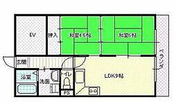 UTOPIA KASHIWARA(ユートピア柏原)[202号室号室]の間取り