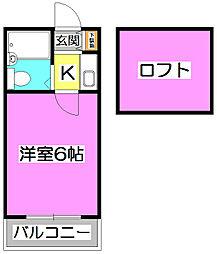 LH柳瀬川[1階]の間取り