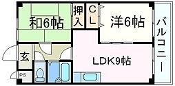兵庫県西宮市相生町の賃貸マンションの間取り