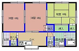 [一戸建] 茨城県ひたちなか市青葉町 の賃貸【茨城県 / ひたちなか市】の間取り