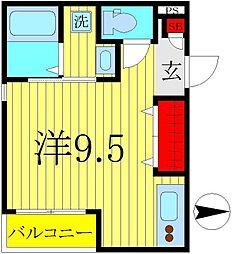 千葉県柏市つくしが丘5の賃貸アパートの間取り