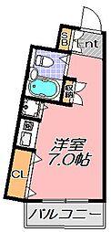 兵庫県神戸市灘区六甲町5丁目の賃貸マンションの間取り